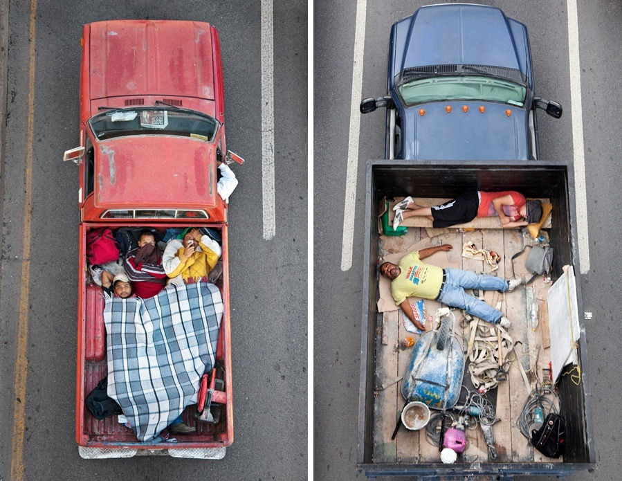 "Recommended Viewing: Alejandro Cartagena's photo series, ""The Car Poolers."""