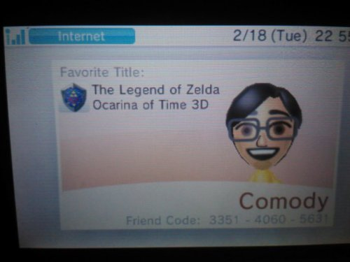 Hiya you should all add me on your 3DS! my friend code is 3351-4061-5031 please go to my ASK and send me your friendcodes!