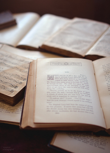 elorablue:  Old Books by Simply Vintagegirl on Flickr.