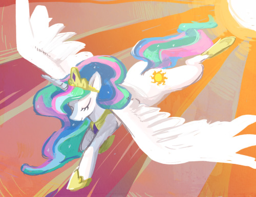 theponyartcollection:  Princess Celestia by ~Skypup