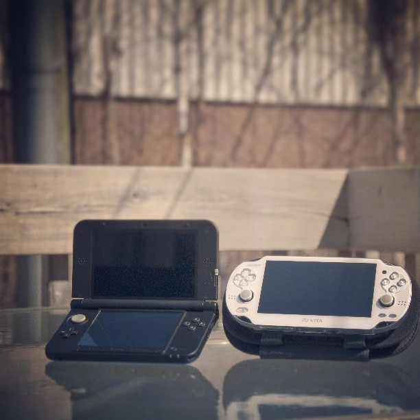See, the #3DS and #PSVita can live in harmony! #Gaming #Vita #3DSXL #Sony #Nintendo #Handheld #Portable