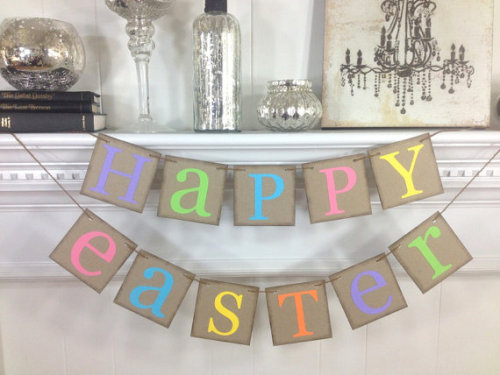 Happy Easter Decoration Happy Easter Banner by ABannerAffair