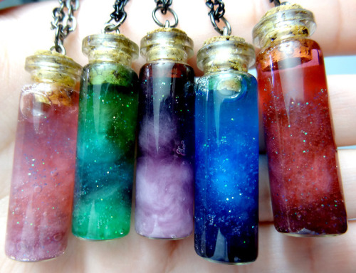 indie-moonlight:  walk-barefoot:  Galaxies in a bottle pretty much  amazing