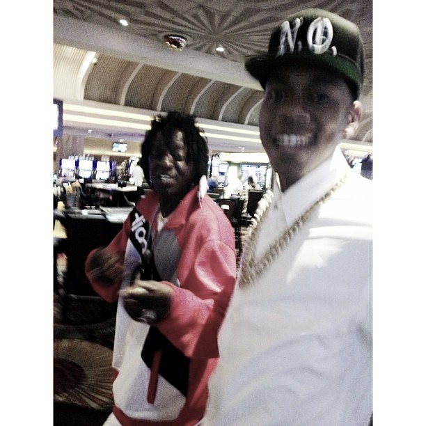 Me and Flava Flav out here thuggin in Vegas…