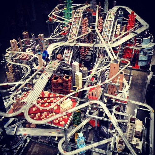 Crazy car track at #LACMA for #throwbackthursday #tbt #art #modern #cool #hotwheelsoncrack