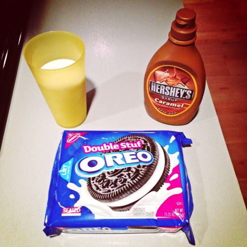 Carmel Milk + Double Stuff Oreos = Foodgasm at The House  – View on Path.