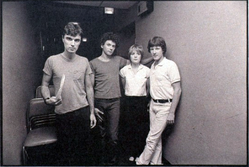 The Talking Heads in 1977.