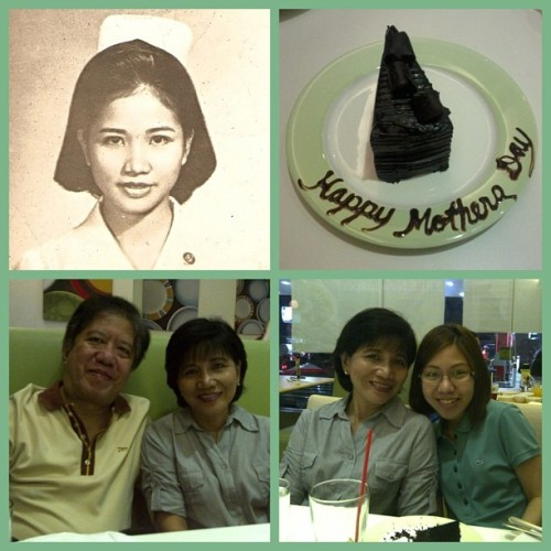 Happy mother's day Mama! I love you forever and ever and ever and ever… :-) Thank you mama and papa for the gift of life. :-) #nofilter
