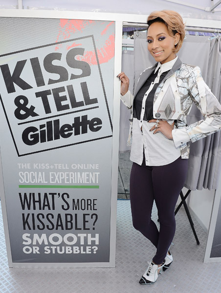KERI HILSON PUCKERS UP FOR GILLETTE'S 'KISS & TELL' EXPERIMENT