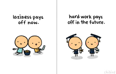 chibird:  Time to get off my lazy bum and do some work.