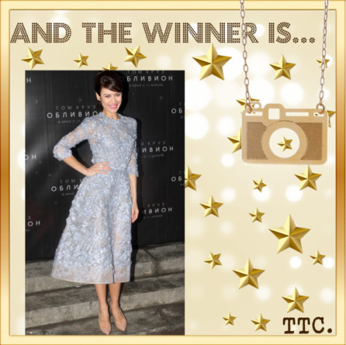 And The Winner Is… Olga Kurylenko por threetrendycorners en PolyvoreBijoux | Colares | Colar Câmera Fotográfica Vazada Dourado | Amomuito…