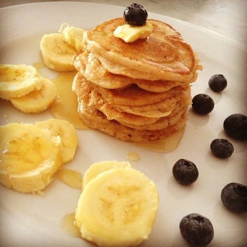 Made pancakes for Mother's Day. Happy Mother's Day!!! ❤ #breakfast #pancakes