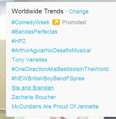 Ste and Brendan are trending worldwide!