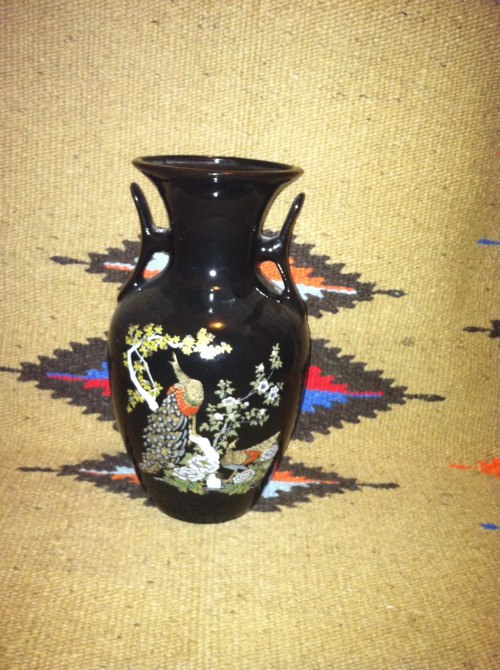 Japanese peacock vase simple elegant shiny