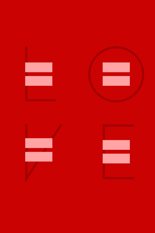 Equality Sans – a typeface for human rights, supporting the fight for marriage equality.