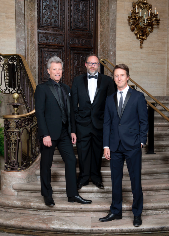 Jon Bon Jovi, Edward Norton, and Jimmy Wales