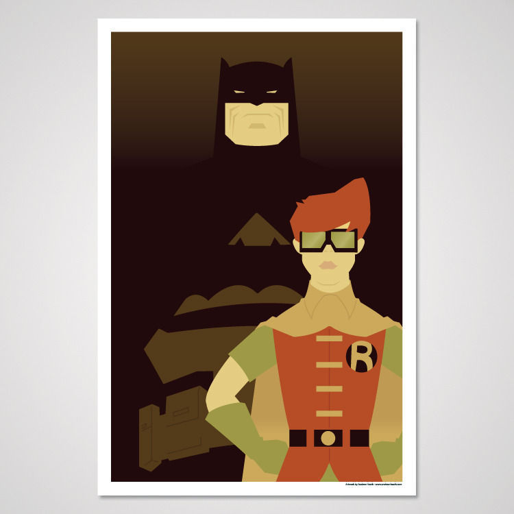 """Old Man & The Soldier""Inspired by The Dark Knight Returns12x18$10Get it HERE!"