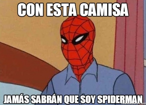 Spiderman, genio sin duda.