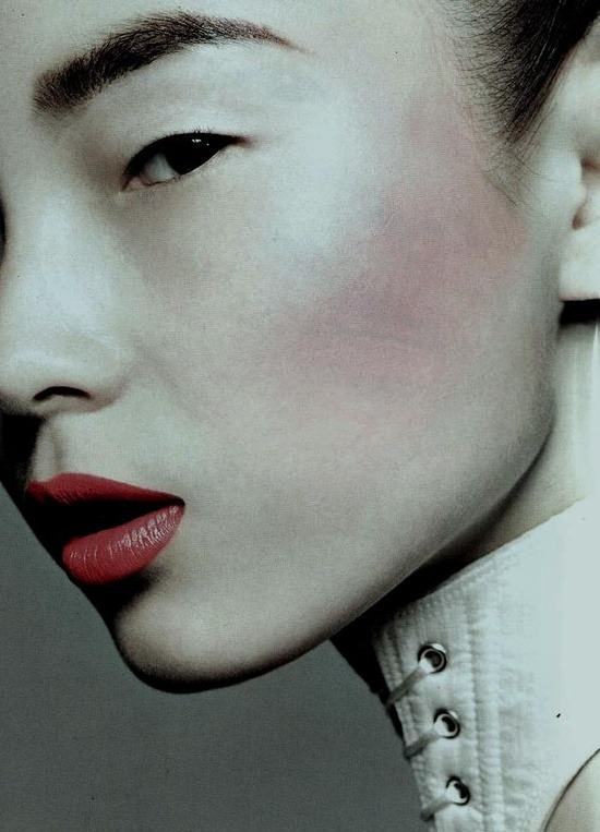 Xiao Wen Ju photographed by Liz Collins for Vogue China September 2011.