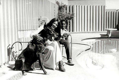 Tina with her son Ronnie and their dog, 1971 Happy Mother's Day :)