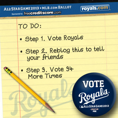 Have YOU voted for your Royals 35 times yet? Here's your assignment for today!