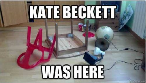 Kate Beckett was here…