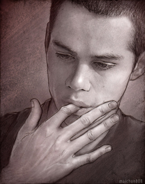 maichan808:  The first time Derek notices Stiles' hands Oral fixation was putting it mildly. Anyone who had seen Stiles destroy a plastic straw knew better than to let innocent objects anywhere near that mouth of his. But there's no food or drink in sight, just a scattered stack of print outs from his research. Stiles is thumbing through the pile in search of something when he casually raises a finger to his mouth…  See my LJ for artist notes and refs  JFC