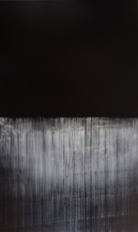 refluent:  Lines of Flight op.370, oil on canvas, 2012, 324cm x 194cm (Akihito Takuma)