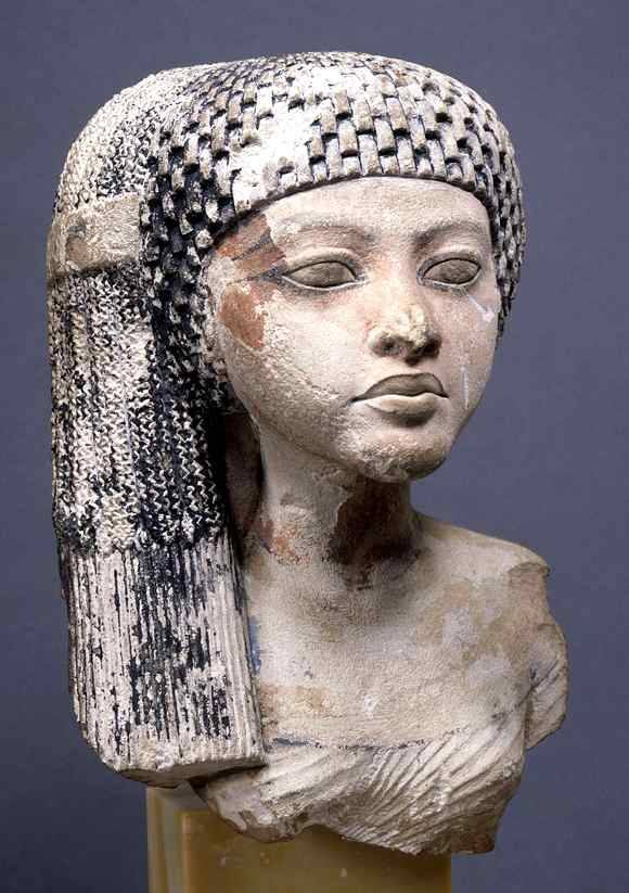 Head of a Princess of the Amarna period, made in Egypt, c.1360-1350 BC.