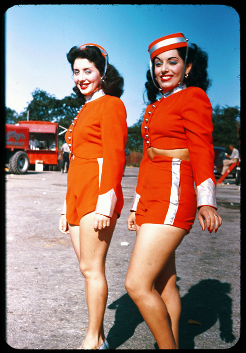 Circus gals of 1946, Chicago, Illinois photographed by Charles Cushman