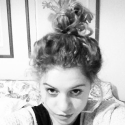 Topknot #curly #hair #bun #messy #black #white #me #ellie #instagood