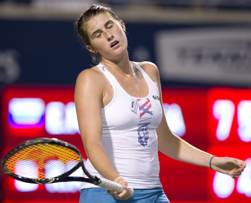 "nationalpostsports:  Canadian tennis player Rebecca Marino quits after cyberbullyingMarino announced on Wednesday she has decided to ""step away from tennis."" While the former world No. 38 did not give specifics about the departure, she recently revealed part of the reason why she went on a seven-month hiatus last February was because of cyberbullying. The 22-year-old told the New York Times last week she has found the Internet criticism that often comes with being a pro athlete overwhelming at times, and it played a role in her deciding to take a seven-month hiatus from the game about a year ago. ""They'll say, 'You gave that match away, you cost me such-and-such amount of money, you should go burn in hell,' or 'You should go die,'"" she told the Times. ""And oh, my gosh, that is really scary."" (Photo: Peter J. Thompson/National Post)"
