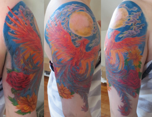 phoenix tattoo for chantelle a while back.