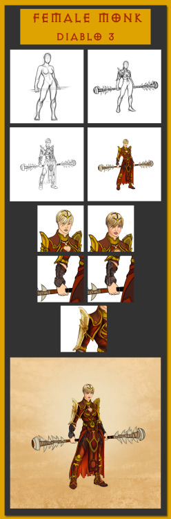 Female Monk - Step by Step 2012 In here I wanted show how I made female monk step by step. Even it is one of my first tries there was alot of psd files so I wanted make a step by step example.hope you like it.
