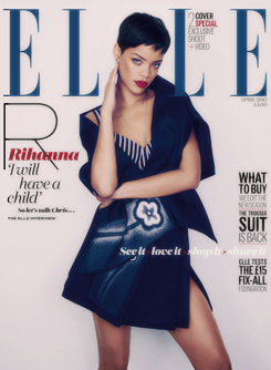 rihlouded:  Rihanna 4 covers for ELLE Uk, April