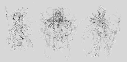 caninequeen:  Vivec sketches by ~LAAMDT