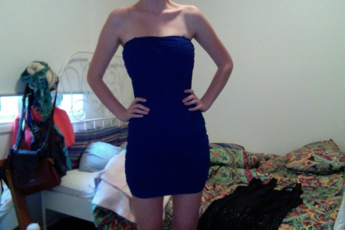 just found this dress from two years ago and somehow it still fits ps i think ive lost a few kgs wooo ^_^