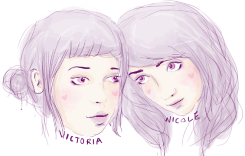 i doodled me and victoria together! i love her. this was so fun, i'm going to do this with all of the friends i've met on this site that i cannot be with in real life (yet anyway) yes yes u_u