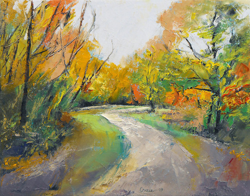 "creese:  ""Autumn Woodland Path"" by Michael Creese"