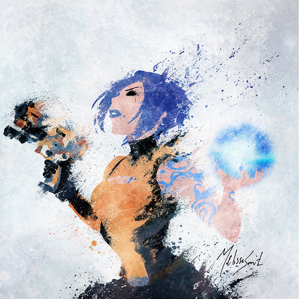geeksngamers:  Borderlands Splatter: Maya - by Melissa Smith Artist's Tumblr | Facebook | Redbubble | Society6