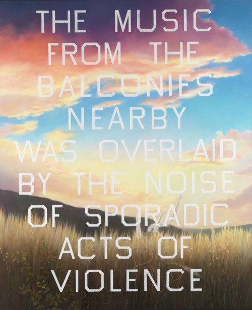 likeafieldmouse:  Ed Ruscha - The Music from the Balconies (1984) - Oil on canvas