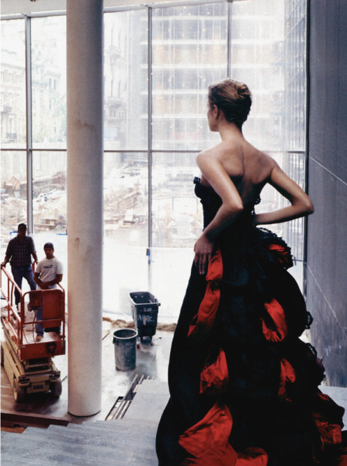 Natalia Vodianova in 'High Art' Photographer: Annie Leibovitz Dress: Valentino Haute Couture F/W 2004/05 Vogue US November 2004