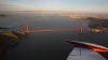 Flew over the Golden Gate last weekend in a Cessna at magic hour