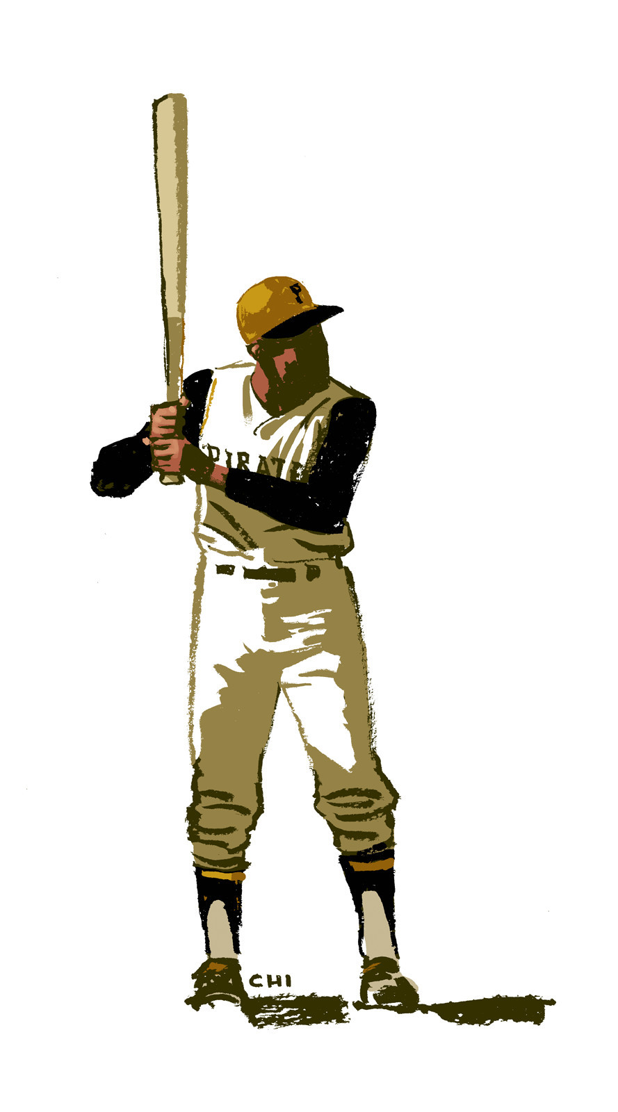 thehappysorceress:  Roberto Clemente by Mark Chiarello