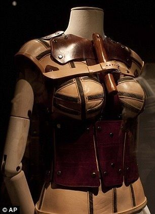 A leather corset that belonged to Frida Kahlo, is displayed at the Frida Kahlo Museum in Mexico City.