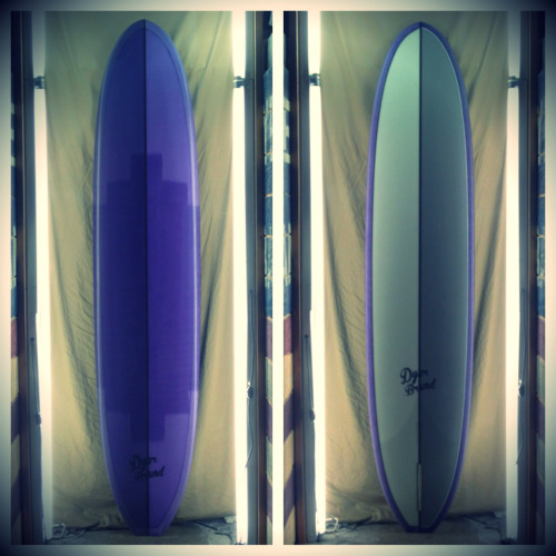 Split foam, purple tint beach brake
