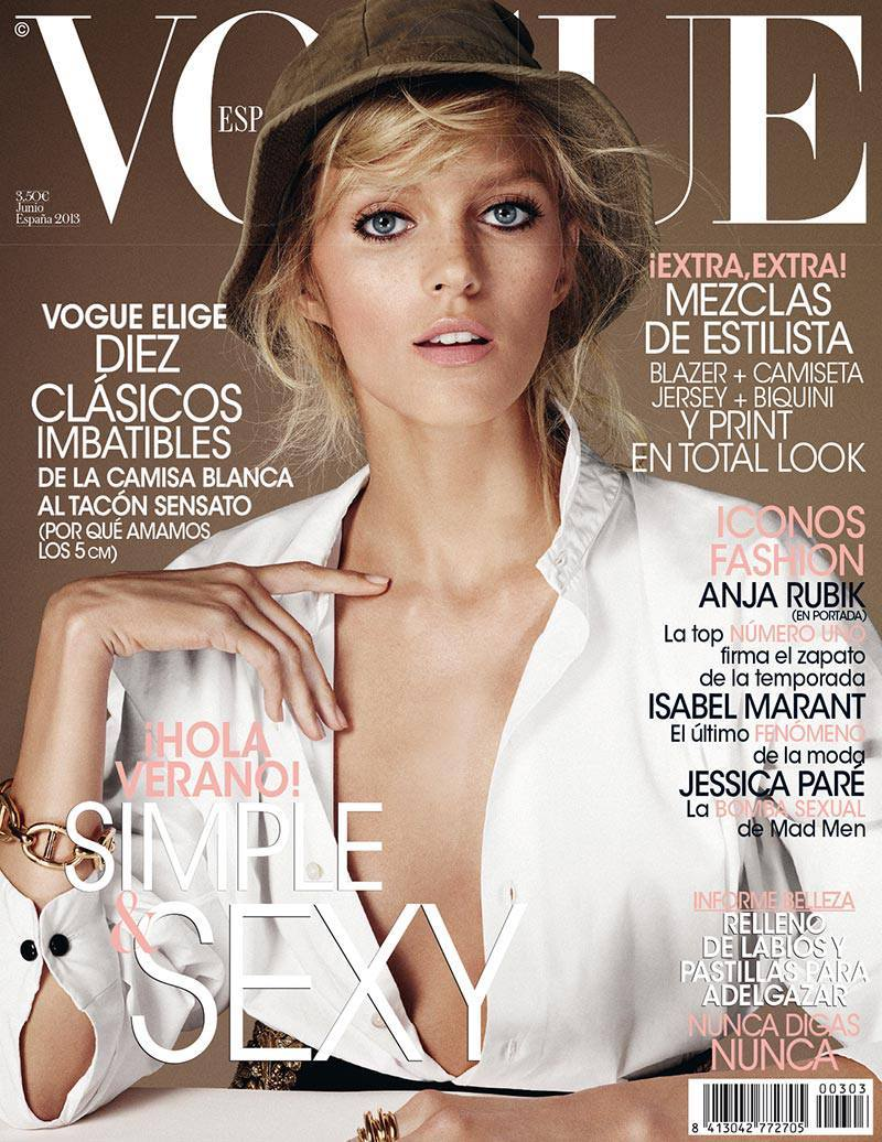 Anja Rubik for Vogue Spain