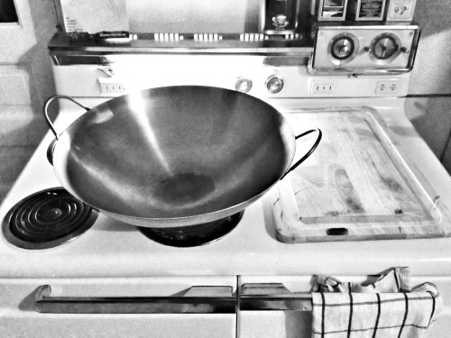 I bought a big wok