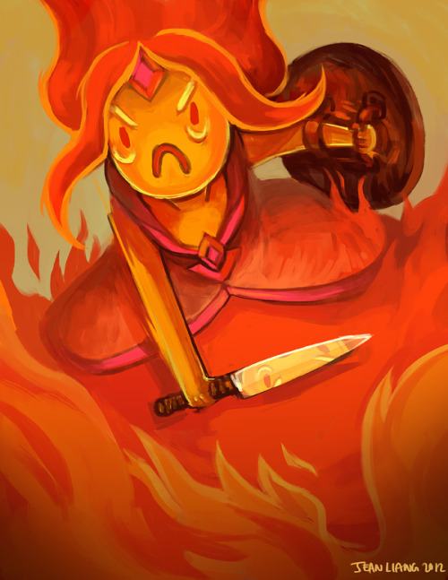 wizard-talk:  Flame Princess by Jean Liang