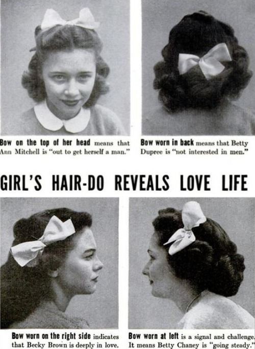 Bow in the back: getting out of the closet 40's style.